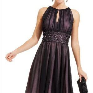 Black Jessica Howard Keyhole Floor Length Gown 10